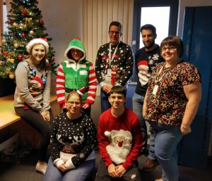 ERS Medical Patient transport Christmas Jumper Day