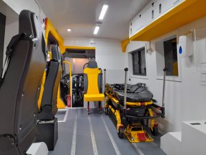 ERS Medical Electric Ambulance interior view