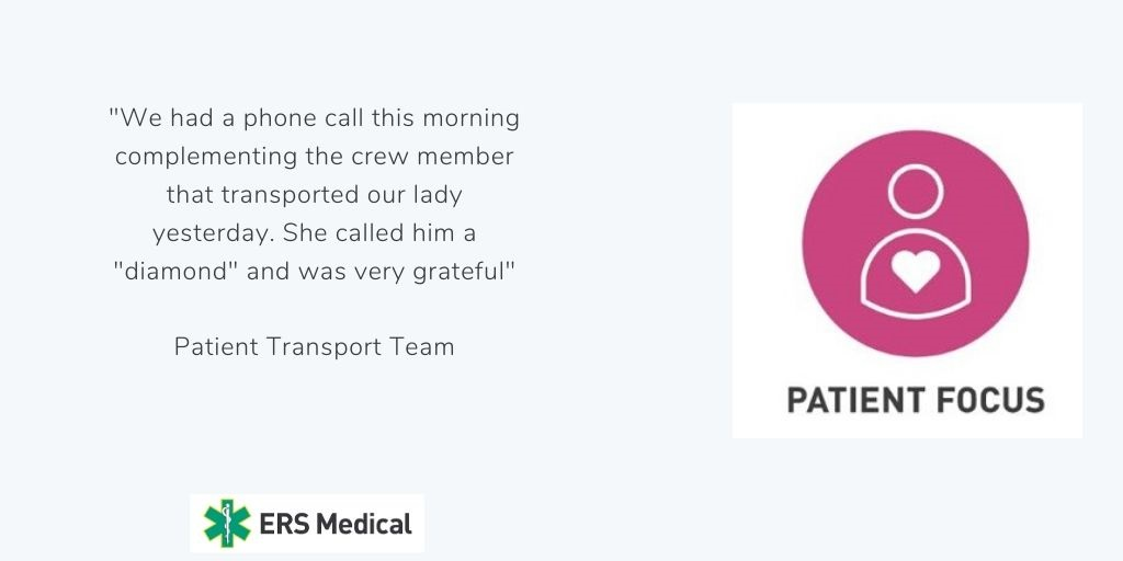 ERS MEDICAL PATIENT TRANSPORT CORE VALUE